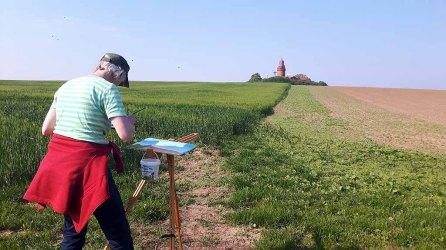 Malreise an die Ostsee - Malen am Leuchtturm Bastorf (c) FRank Koebsch (5)