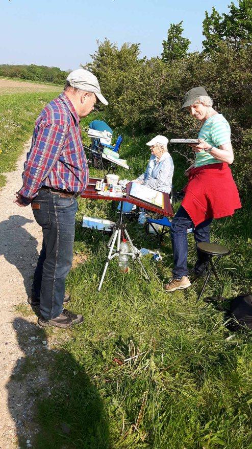 Malreise an die Ostsee - Malen am Leuchtturm Bastorf (c) FRank Koebsch (6)