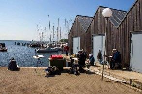 Malreise an die Ostsee - Malen im Hafen von Rerik (c) Frank Koebsch (1)