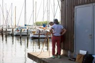 Malreise an die Ostsee - Malen im Hafen von Rerik (c) Frank Koebsch (10)