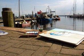 Malreise an die Ostsee - Malen im Hafen von Rerik (c) Frank Koebsch (11)