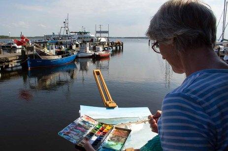 Malreise an die Ostsee - Malen im Hafen von Rerik (c) Frank Koebsch (13)