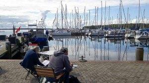 Malreise an die Ostsee - Malen im Hafen von Rerik (c) Frank Koebsch (14)