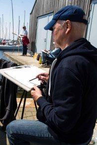 Malreise an die Ostsee - Malen im Hafen von Rerik (c) Frank Koebsch (2)