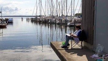 Malreise an die Ostsee - Malen im Hafen von Rerik (c) Frank Koebsch (20)