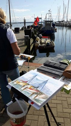 Malreise an die Ostsee - Malen im Hafen von Rerik (c) Frank Koebsch (21)