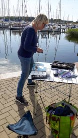 Malreise an die Ostsee - Malen im Hafen von Rerik (c) Frank Koebsch (22)