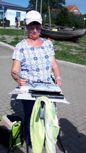 Malreise an die Ostsee - Malen im Hafen von Rerik (c) Frank Koebsch (23)