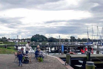 Malreise an die Ostsee - Malen im Hafen von Rerik (c) Frank Koebsch (25)