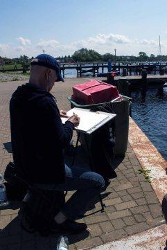 Malreise an die Ostsee - Malen im Hafen von Rerik (c) Frank Koebsch (4)