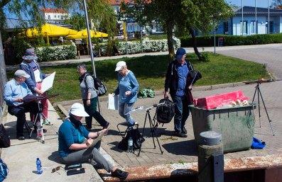 Malreise an die Ostsee - Malen im Hafen von Rerik (c) Frank Koebsch (5)