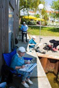 Malreise an die Ostsee - Malen im Hafen von Rerik (c) Frank Koebsch (9)