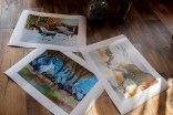 Kranich Aquarelle als Posterdruck (c) Frank Koebsch (3)