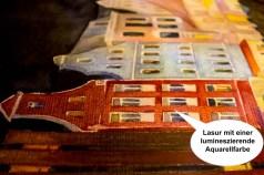 Lasuren mit lumineszierenden Aquarellfarben im Aquarell - Rostocker City - illuminiert (c) FRank Koebsch (3)