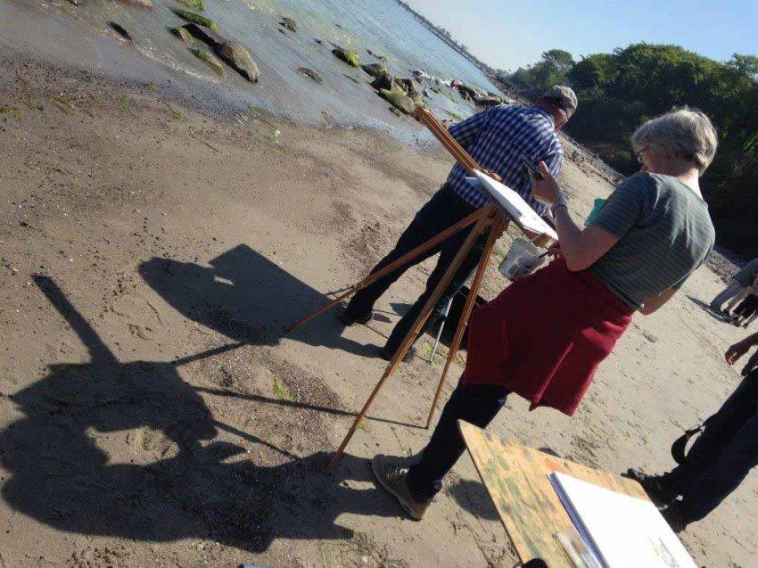 Malen am Strand von Heiligendamm (c) Kirsten Paulsen (1)