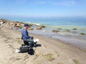 Malen am Strand von Heiligendamm (c) Kirsten Paulsen (11)