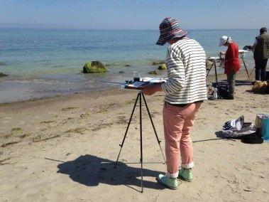 Malen am Strand von Heiligendamm (c) Kirsten Paulsen (2)