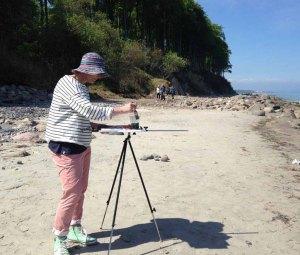 Malen am Strand von Heiligendamm (c) Kirsten Paulsen (3)