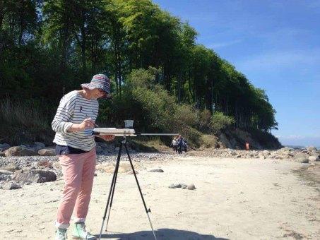 Malen am Strand von Heiligendamm (c) Kirsten Paulsen (4)