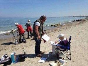 Malen am Strand von Heiligendamm (c) Kirsten Paulsen (6)