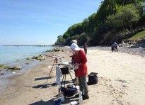 Malen am Strand von Heiligendamm (c) Kirsten Paulsen (8)