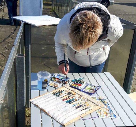 Malen im Hafen von Gager (c) Frank Koebsch (4)