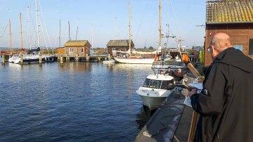 Malen im Hafen von Gager (c) Frank Koebsch (8)