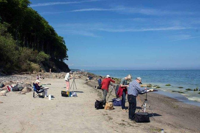 Malreise nach Kühlungsborn - Malen am Strand von Heiligendamm (c) FRank Koebsch (1)