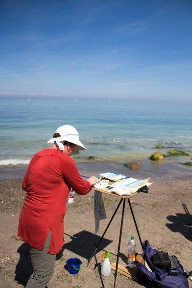 Malreise nach Kühlungsborn - Malen am Strand von Heiligendamm (c) FRank Koebsch (3)