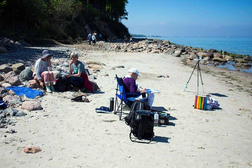 Malreise nach Kühlungsborn - Malen am Strand von Heiligendamm (c) FRank Koebsch (4)