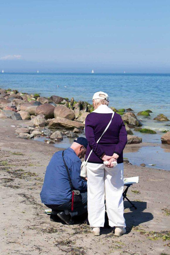 Malreise nach Kühlungsborn - Malen am Strand von Heiligendamm (c) FRank Koebsch (5)