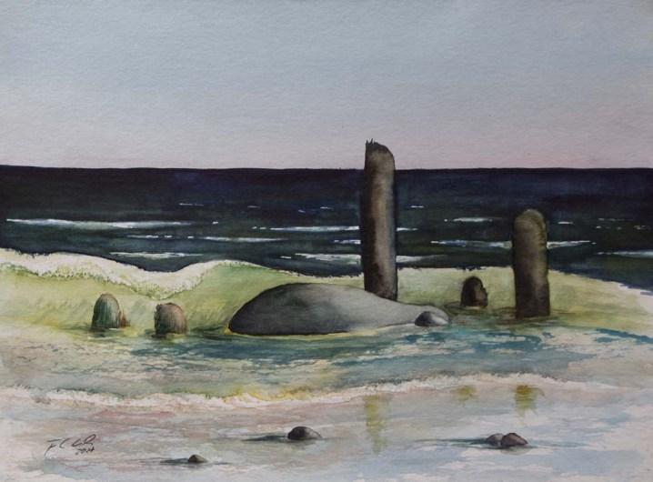 Ostsee Wellen 1 (c) Aquarell von Frank Koebsch