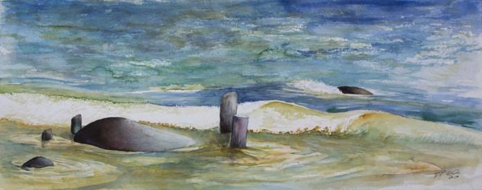 Ostsee Wellen 2 (c) Aquarell von Frank Koebsch