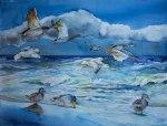 Party am Strand (c) Aquarell von Frank Koebsch