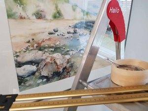 Vorbereitungen für unsere Ausstellung im Heimatmuseum Graal Müritz (c) FRaank Koebsch (5)