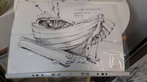 Zeichnung von Joachim Weyrich - Museumsboot (c) Frank Koebsch