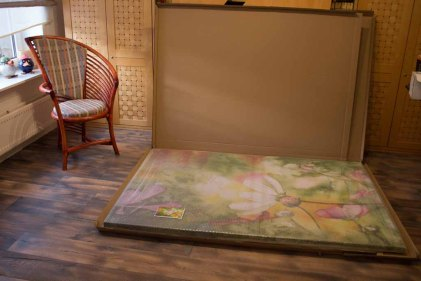 Aquarell - Farbspiele des Frühlings - als Kunstkarte und Druck auf Leinwad im Format 120 x 180 cm (c) Frank Koebsch (1)