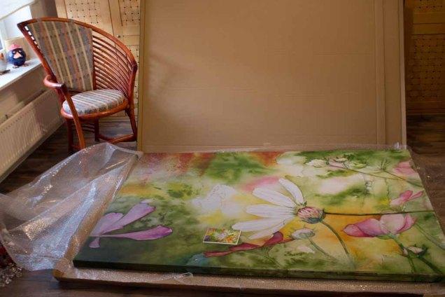 Aquarell - Farbspiele des Frühlings - als Kunstkarte und Druck auf Leinwad im Format 120 x 180 cm (c) Frank Koebsch (3)