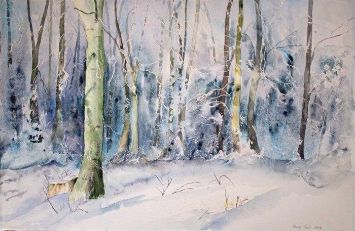 Eiszeit (c) Aquarell von Hanka Koebsch