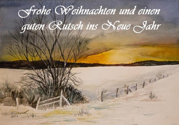 Frohe Weihnachten und einen Rutsch ins Neue Jahr