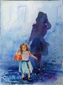 Wenn ich einmal groß bin (c) Aquarell von Hanka Koebsch