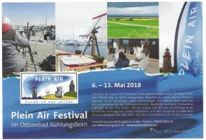 Anzeige Plein Air Festival 2018 in der Pallette & Zeichensti