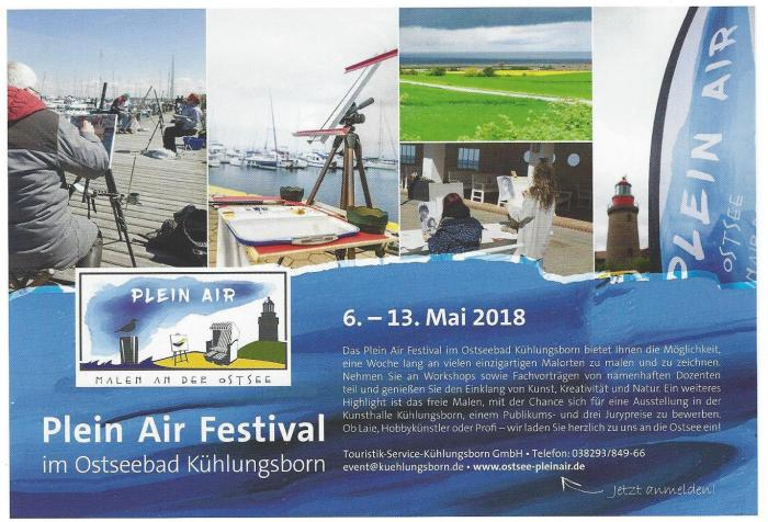 Anzeige Plein Air Festival 2018 in der Pallette & Zeichenstift