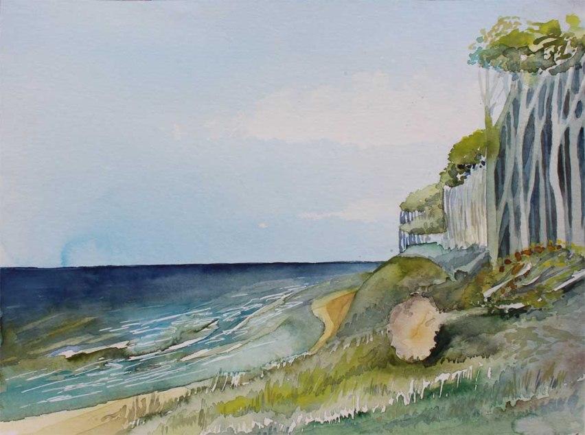 Gespensterwald bei Nienhagen (c) Aquarell von Frank Koebsch