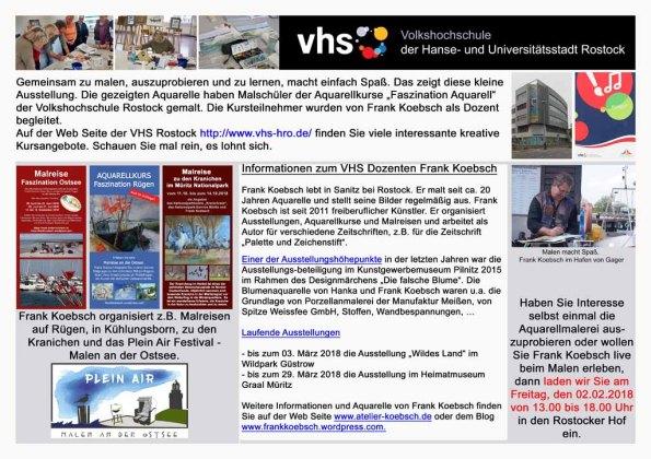 Infotafel für die Ausstellung im Rostocker Hof Koebsch 2018 01 24