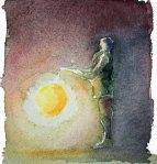 Menschen in Aquarell - Junge mit Laterne (c) FRank Koebsch