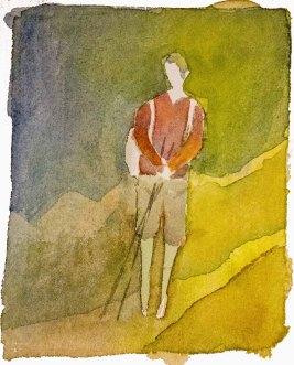 Menschen in Aquarell - Wanderer (c) Frank Koebsch