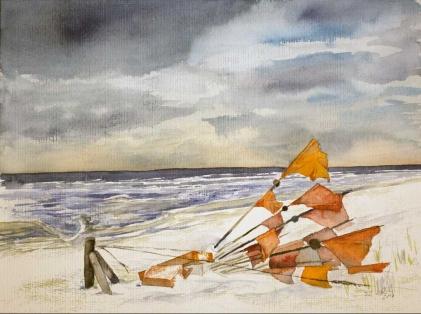 Winter an der Ostsee (c) Aquarell von FRank Koebsch