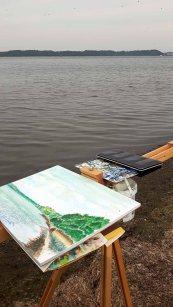 Aquarelle entstehen auf den Boddenwiesen am Having bei Alt Reddevitz (c) FRank Koebsch (2)