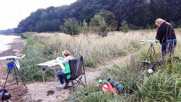 Malen auf den Boddenwiesen am Having bei Alt Reddevitz (c) FRank Koebsch (1)